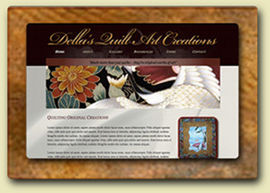 <div style='margin-top:-7px;'>Della's Quilt Art Creations Website</div>