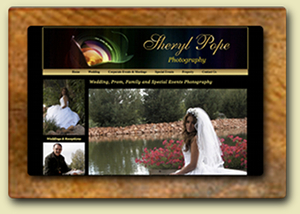 <div style='margin-top:-7px;'>Sheryl Pope Photography Website</div>